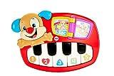 Fisher Price- Pianoforte del Cagnolino, Giocattolo Musicale, Adatto per Bambini dai 6 Mesi, Multicolore, DLD22