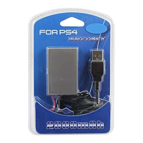 Batterie rechargeable 2000mAh avec câble micro USB pour manette PS4 Playstation 4