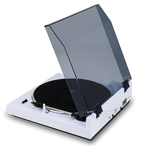 Dual DT 210 USB Schallplattenspieler mit Digitalisierungsfunktion, weiß - 3