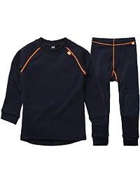 Helly Hansen HH LIFA Merino Baselayer Thermal Conjunto de Camisa y Pantalon, Unisex niños