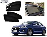Autorepute Magnetic Window Sun Shades for Maruti Suzuki Swift Dzire 2017-2018 [Set of 4pc - Front 2pc with Zipper ; Rear 2pc Without Zipper] (Black)