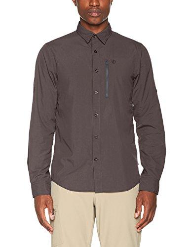 Fjällräven Herren Abisko Hike Shirt Ls Hemd Dark Grey