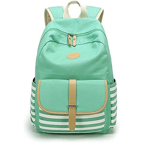 Ambielly Estilo mochilas escolares espesado bolsa de mano hombro del ordenador portátil Mochila bolso causal mochila