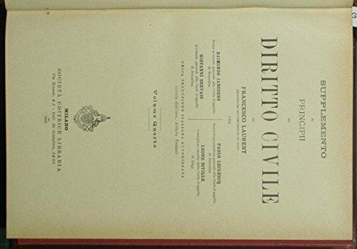 Supplemento ai Principi di diritto civile di Francesco Laurent. Vol. IV
