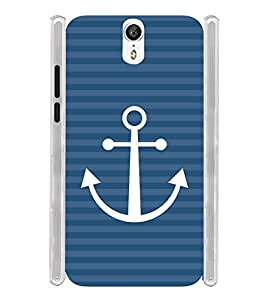 Anchor Blue Pattern Soft Silicon Rubberized Back Case Cover for Lenovo Zuk Z1