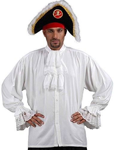 ThePirateDressing Pirate Medieval Renaissance Colonial Shirt Costume C1086 [White] [X-Large]