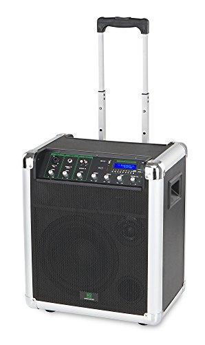 """Pronomic PPA10M Akkubox (Mobiler Trolley mit 10\"""" Lautsprecher, PA Anlage, 2-Wege-System, 50 Watt, eingebauter MP3-Player mit USB/SD-Anschluss, bis zu 8 Stunden Akkulaufzeit, Bluetooth Schnittstelle)"""