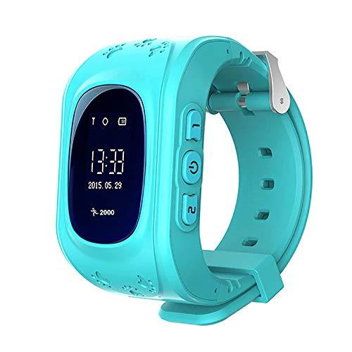 KawKaw Q50 GPS Kids Smartwatch mit SOS-Knopf Für Jungen Und Mädchen Mit Anruffunktion, Standortlokalisierung, Tracker | Elektrisches Notfallarmband für Kinder | Ohne Handy verwendbar (Blau)
