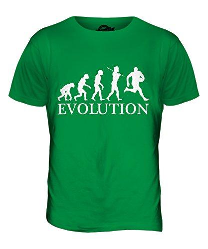 CandyMix Football Australiano Evoluzione Umana T-Shirt da Uomo Maglietta Verde