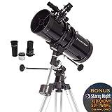 Celestron CE21049 Powerseeker 127EQ Telescopio Riflettore da 127 mm con Accessori e Treppiede in Alluminio