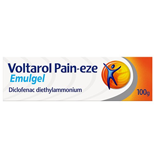Voltarol Pain Relief Gel, Pain-eze Emulgel, 100 g
