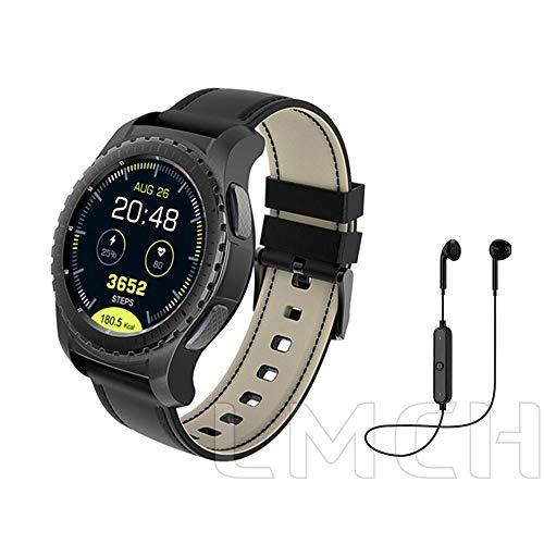 NBPM Bluetooth Smart Watch Schrittzähler Pulsmesser Anruf/SMS Erinnerung für Ios Android wasserdichte Männer Relogio Inteligente Mit Retail-Box Schwarz Hinzufügen Headset Headset Retail-box