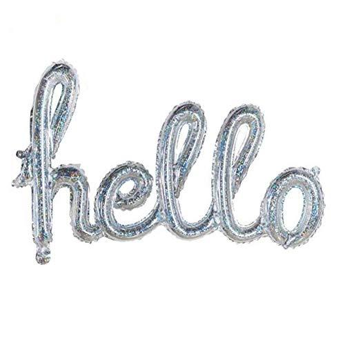 Rainai Siamesischer Buchstabe Rosa Infrarot Silber Ballon Helloparty Aluminium Ballon Brief Luft Helium Ballons