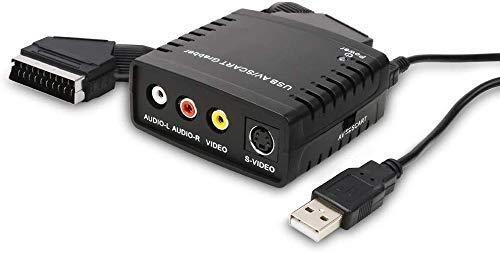 USB Video Grabber Adapter- TV / Hi8 / VHS zu Digital Grabber, Video Converter mit Scart Adapter