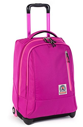 Trolley invicta - tindy- rosa - spallacci a scomparsa! uso zaino scuola e viaggio 36 lt