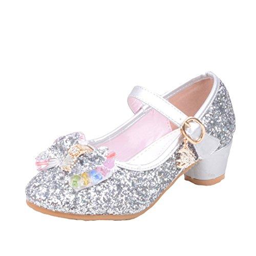 Cool&D Mädchen Sandalen Frozen Schuhe Prinzessin Sandalen Absatz-Schuhe Oxford Sohlen Sandalette mit ()