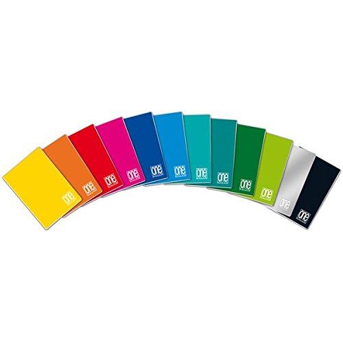 Blasetti one color, quaderno formato a5, rigatura 0q, quadretti 5 mm con margine per 2° e 3° elementare, carta 80g/mq, pacco da 10 pezzi