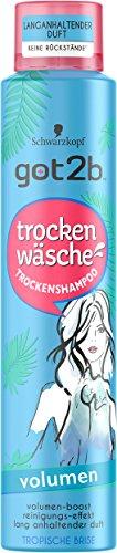 Schwarzkopf Got2b Trockenwäsche Trockenshampoo, Volumen, 3er Pack (3 x 200 ml)