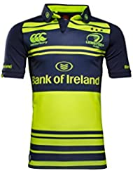 Leinster 2016/17 Alternate S/S Pro Rugby Shirt - Safety Yellow/Black - size L