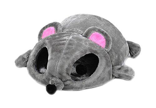 Unbekannt Katzenkissen Katzenhöhle Katzenbett Maus Kuschelkissen Haustier-Kissen Grau