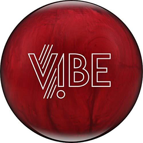 HAMMER Vibe - Cherry, roter polierter Reaktiv Bowlingball für Einsteiger und Turnierspieler - Die Bowlingkugel Macht bei richtiger Spielweise eine Bogenbewegung Größe 12 LBS (Hammer Bowling Taschen 3-ball-roller)