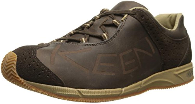 Keen Footwear Herren 1012453 A86 Leather Sneaker Cascade Brown Halbschuhe Leder