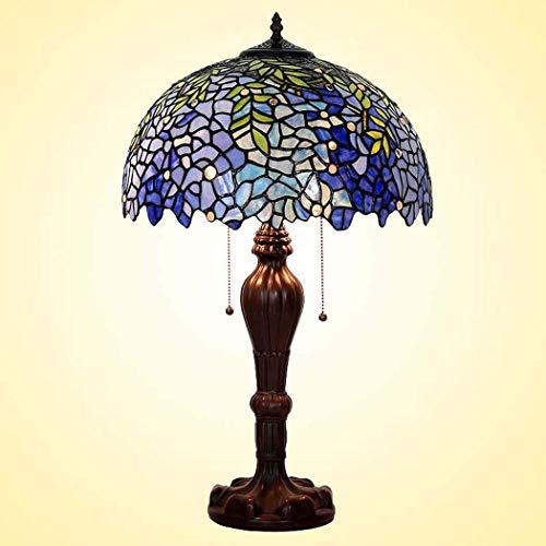 40w Nacht Licht (Tiffany Style Table Lampe, romantisch, Wisteria gesteigt Glastisch Lichter, Retro Living Room, Schlafzimmer Dekoration Nacht Licht 40W)