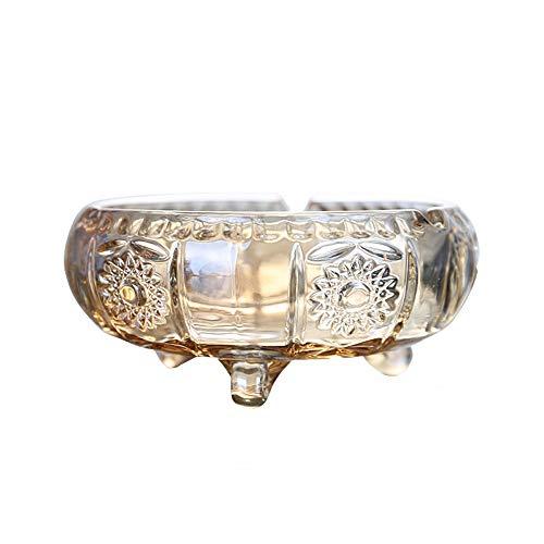 QXX Home European Style Gold Glas Aschenbecher Couchtisch Golden Aschenbecher Kreatives Zuhause Für Passagier Aschenbecher Verwendet -