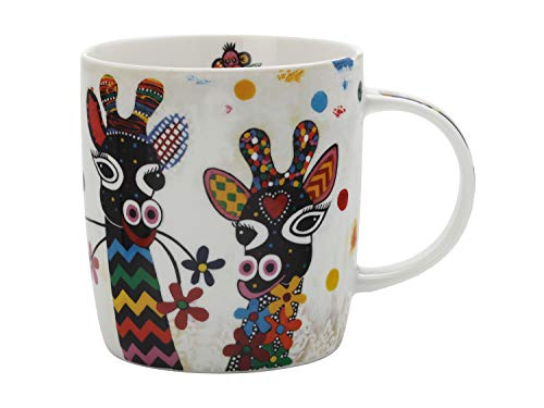 Maxwell & Williams DI0102 Smile Style Becher Zarafa, aus Porzellan, Mehrfarbig, 400 ml, in Geschenkbox