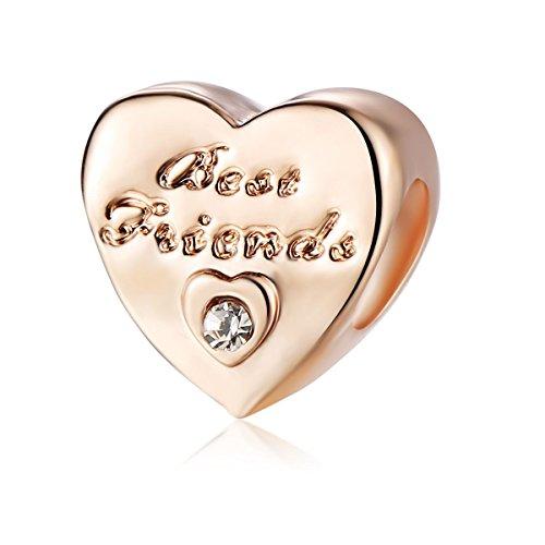Yingyan Silber Charms Bester Freund Hearts European Bead Für Anhänger Halskette Armbänder Armreif - Halloween-screenings