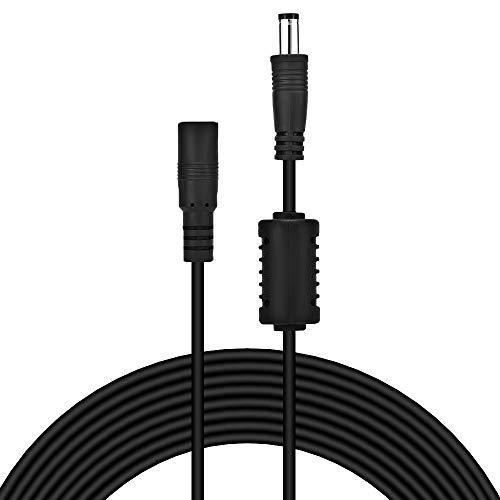 aceyoon DC Netzteil Verlängerungskabel, DC-Hohlstecker mit Buchse (5,5 x 2,1 mm, 5m) Verlängerungs Kabel 5V-24V DC Verlängerungs Verbinder Draht für LED Band,DC Netzkabel,DC Verteiler Adapter MEHRWEG -