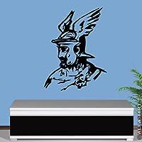 queruscos Fürst arminio Monumento Hermanns Germane Batalla Held Römer teuteburger Bosque–pared joyas–Adhesivo decorativo para pared (Negro 45x 60cm aprox) # 6664