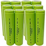 Combo:12pc Ni-MH Rechargeable 4/3A 3800mAh 1.2v Batteries