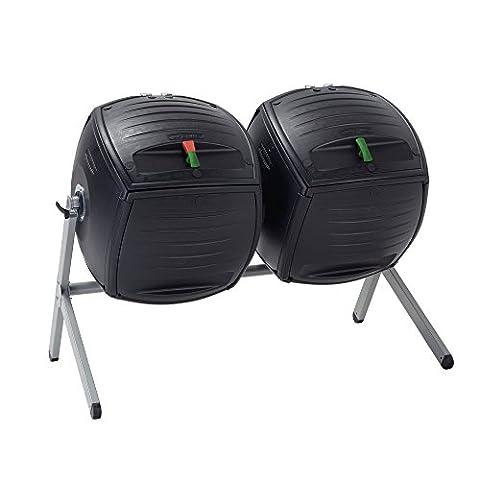Lifetime Duel 189 Litre (50 Gallon) Dual Compost Tumbler HDPE Plus Powder Coated Steel Base