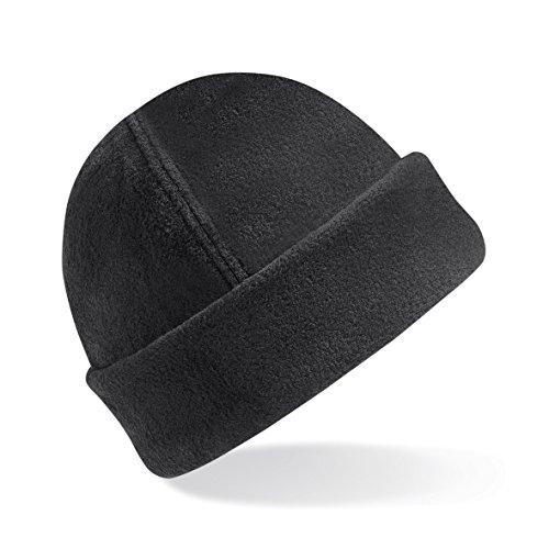 CHEMAGLIETTE! Cappellino da Montagna Sci Cuffia Pile Tessuto Termico Risvolto Beechfield B243