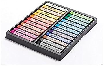 Staedtler Karat Premium Quality Soft Pastel Chalks, Pack of 24 (Multicolor)