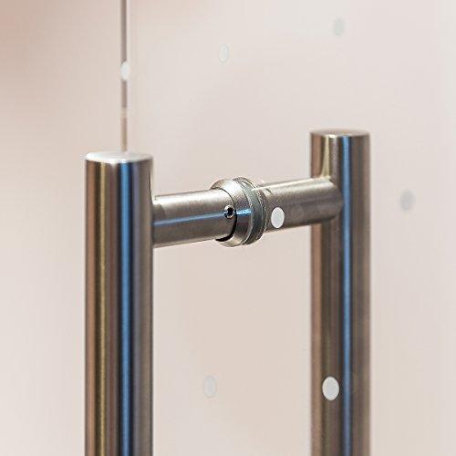 416ezlQvpLL - Manija de Puerta Tirador de 350 mm de Acero Inoxidable Satinado Manija Puerta de Cristal