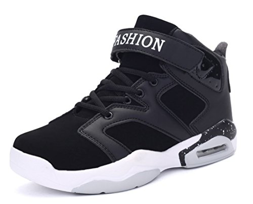 Men's High Top Outdoor Athletic Basketball Shoes Black