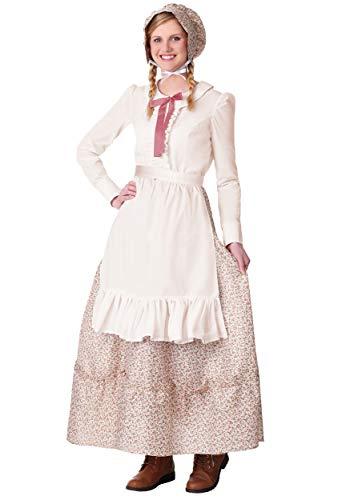 Women's Plus Size Prairie Pioneer Fancy Dress Costume 1X