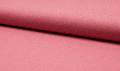 Qualitativ hochwertiger Baumwolle Satin Stretch, unifarben Altrosa, zum kreativen Nähen von Accessoires, Dekoration, Erwachsenen, Kinder und Baby Kleidung, 50 cm