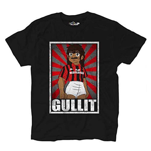 KiarenzaFD Camiseta Fútbol Vintage Gullit Milan Legend Captain Tsubasa Grunge