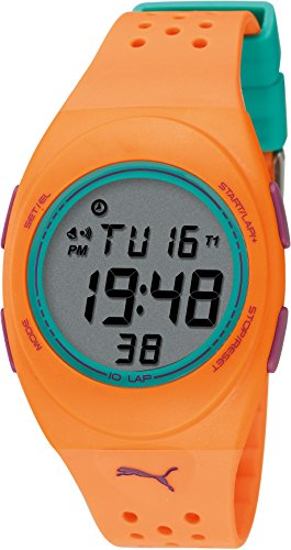 Puma - PU910942011 - Faas 250 - Montre Femme - Quartz Digital - Cadran Gris - Bracelet Plastique Orange
