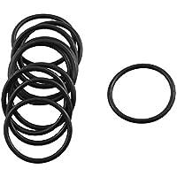 sourcing map 10 Stücke schwarz Gummi O Ring Öl Dichtung Dichtschiebe 20mm x 17mm x 1.5mm de