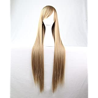 Womens Ladies Girls 80cm Linen Grey Color Long Straight Wigs High Quality Hair Carve Cosplay Costume Anime Party Bangs Full Sexy Wigs