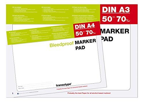 Copic Marker Block A4 und A3 je 50 Blatt - Sparpaket -  Markerblock Pad für Alkohol Marker...