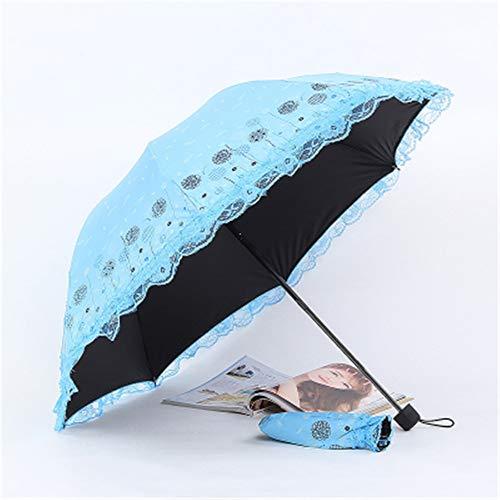 Yuya ombrello da sole protezione solare femminile colla uv ultraleggero piumino doppio pieghevole ombrello mare azzurro