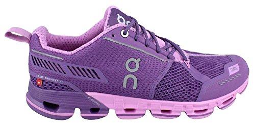 ON, Scarpe da corsa da donna purple rosse