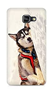 Amez designer printed 3d premium high quality back case cover for Samsung Galaxy A5 (2016 EDITION) (Dog 6)