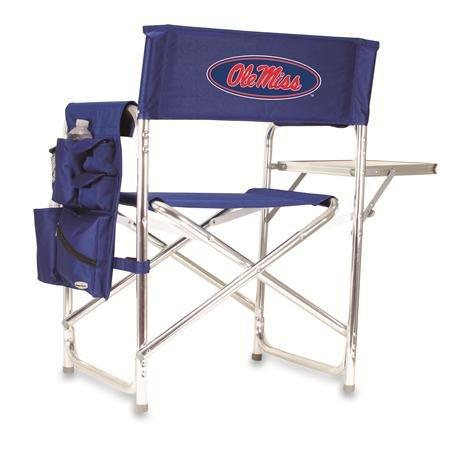 Picnic Time NCAA Universität von Mississippi Rebels Digital Print Sports Stuhl, Marineblau, One Size -