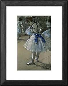 Tableau encadré Par :  Edgar Degas de danseuse, fusain, Pastel, craie